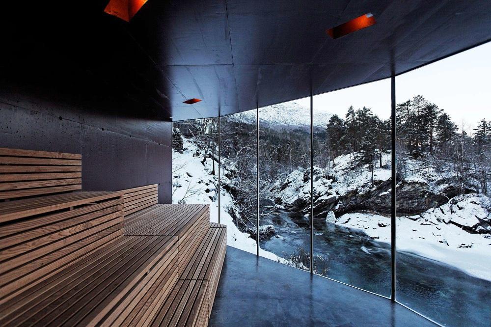 juvet landscape hotel - river sauna