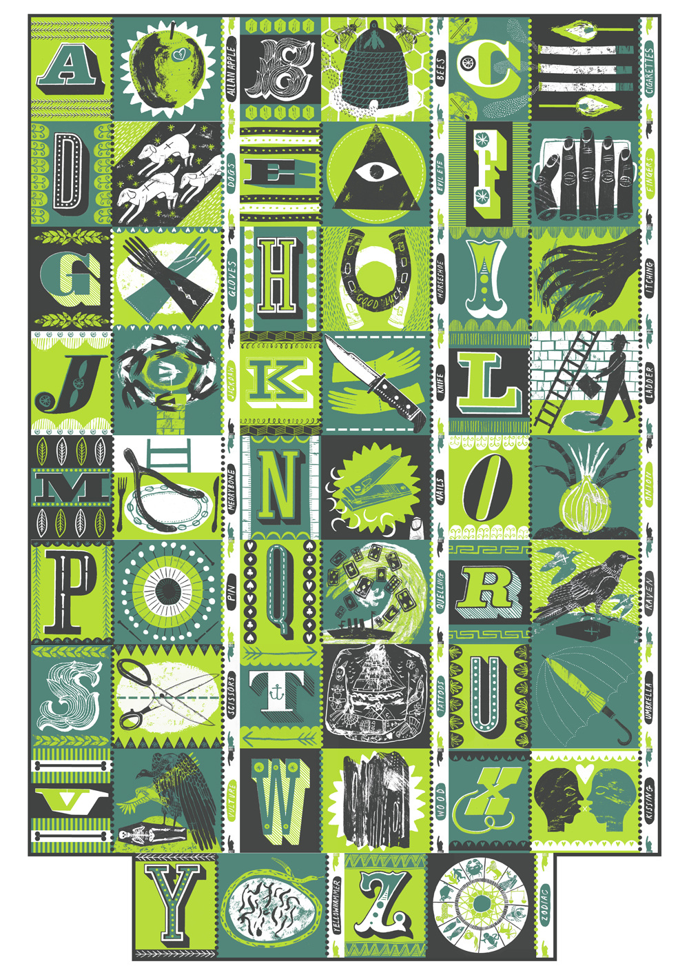 Alphabet of Superstitions - Alice Pattullo Illustration