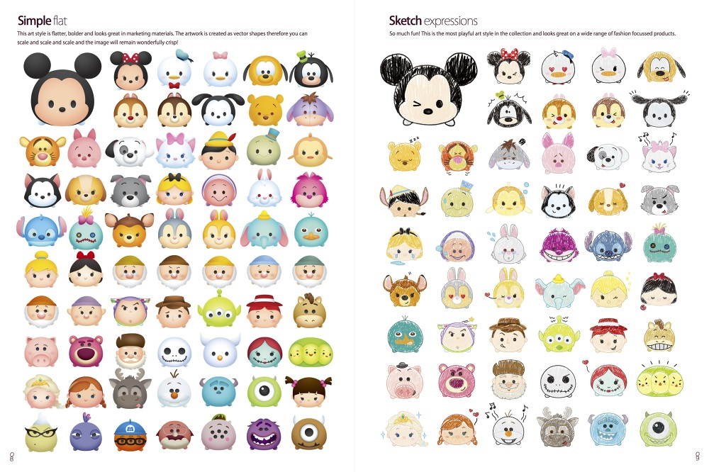 It is a graphic of Adaptable Tsum Tsum Characters Names
